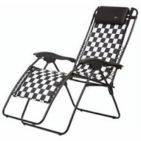 Faulkner Recliner Chair Padded Checkered Flag