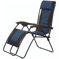 Faulkner Laguna Recliner Chair Padded Blue/Black