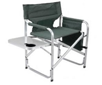 Faulkner Director's Chair Green w/ Cupholder/Tray/Bag