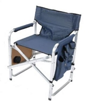 Faulkner Director's Chair Blue w/ Cupholder/Tray/Bag