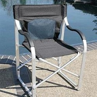 Faulkner Deluxe Director's Chair Black
