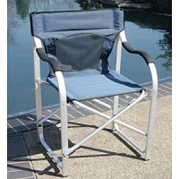 Faulkner Deluxe Director's Chair Blue