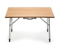 Camco Bamboo Folding Table with Aluminum Legs