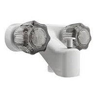 Dura Faucet Single Piece 4 Inch Wall Mount White