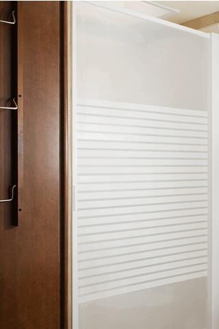 Stoett Industries Retractable Shower Door Frosted Panel 57