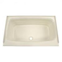 Lippert Standard Tub 24 Inch x 38 Inch Center Drain Parchment ABS