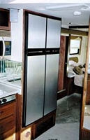 Brushed Aluminum Refrigerator Door Panel