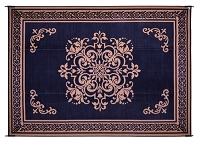 Medallion Black 5'X8' Patio Mat