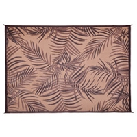 Palm Espresso Patio Mat 8X11