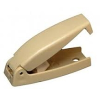 RV  Baggage Door Catch Squared Col White