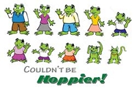 RV Decal-Frog Family