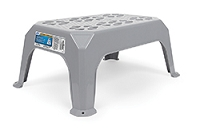 Large Gray Plastic Step Stool