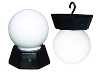 Party Lights; Globe Design; Portable Type; Single LED; For Indoor/ Outdoor Use; 1 Watt; With Swivel Hanging Hook; 3 AAA Battery Operated; White; Pack Of 2