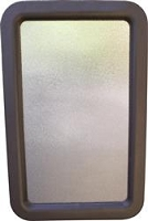 Valterra Entry Door Window Glass 12 Inch x 21 Inch Window Obscure Glass With Frame Assembly