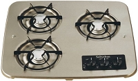 Suburban Drop-In Cooktop 3-Burner Stainless Steel 2938AST