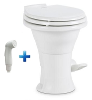 Dometic 310 Standard Height RV Toilet w/ Hand Spray, White