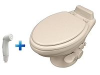 Dometic 320 Low Profile With Hand Sprayer RV Toilet Bone