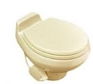 Dometic RV Toilet -Sealand Traveler 511HS-Low Profile- Bone With Hand Spray-302751103