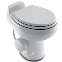 Dometic RV Toilet -Sealand Traveler 511HS- Low Profile-White With Hand Spray-302751101