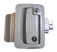White Travel Trailer Lock w/Deadbolt