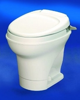 Thetford Rv Toilet Aqua Magic V Low Profile Without Water Saver Hand Flush, Parchment, 31647