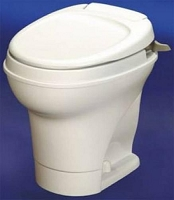 Thetford RV Toilet Aqua Magic V  High Profile Hand Flush Without Water Saver, White, 31667