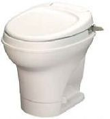 Thetford Rv Toilet Aqua Magic V Low Profile Hand Flush With Water Saver, White, 31657