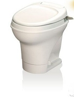 Thetford Rv Toilet Aqua Magic V High Profile Hand Flush With Water Saver, Parchment, 31676