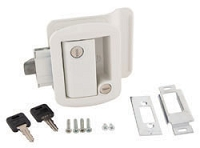 WHITE GLOBAL TRAILER LOCK W/KEYS