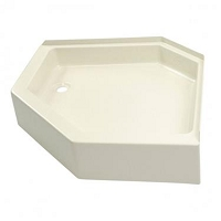 Lippert 32x32 Neo Angle Shower Pan LH Drain Parchment