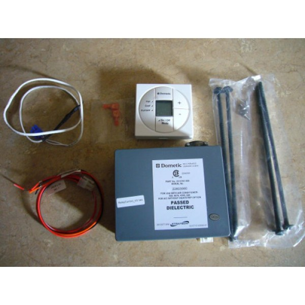 Dometic 3313189049 single zone lcd thermostat and control kit dometic 3313189049 single zone lcd thermostat and control kit cool furnace heat strip polar white sciox Image collections
