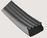 Black RV Foam Seal W/ Tape 50'