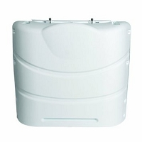 RV Propane Tank Cover 30 lb. Double, Colonial White