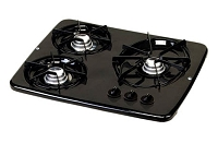 Atwood DV30-B 56471 Black 3 Burner Drop-In Cooktop