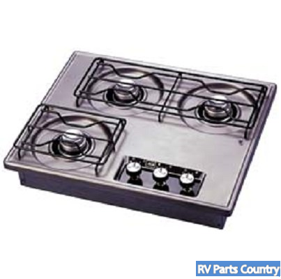 Suburban Drop In Cooktop 3 Burner Steel 2938ast Rv