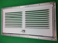 Rv Refrigerator Vent Door- Lower Side - Square Cornered