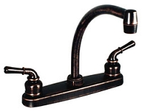 Rubbed Bronze Two Handle Hi-Arc Kitchen Pot Filler