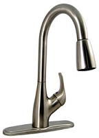 Rubbed Bronze 1 Handle Pulldown Kitchen Faucet