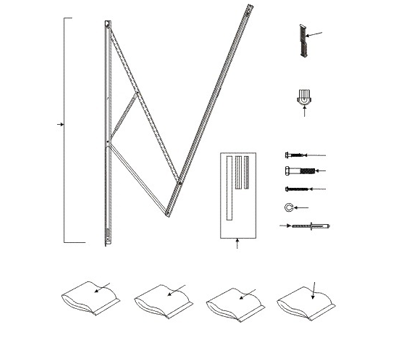 A&E 9100 Power Awning Standard Hardware 65.5