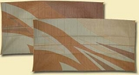 Rv Mat, Reversible, 8 ft x 16 ft, Tan Gold Flare