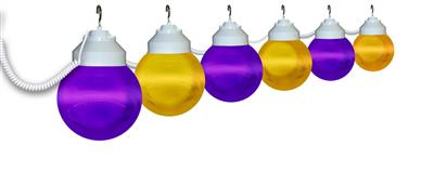 Polymer Products Purple and Yellow 6-Globe String Light