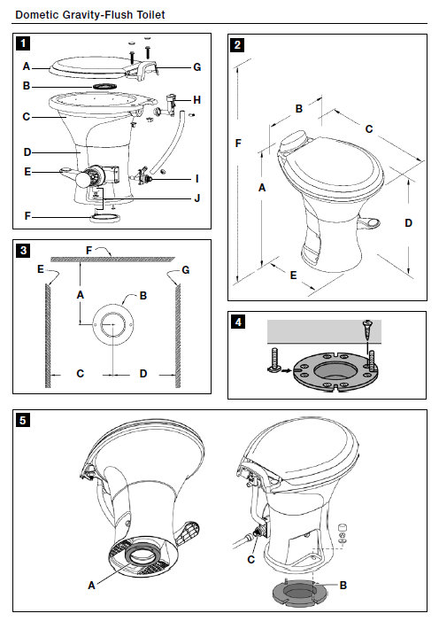 Dometic 310 Toilet White Light Weight China For Rv Manual Guide