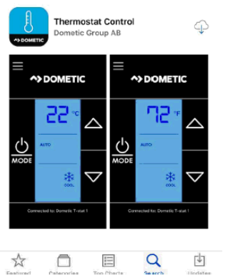 New bluetooth dometic single zone thermostat with control kit cool new bluetooth dometic single zone thermostat with control kit coolfurnace polar white image may differ from actual product sciox Image collections