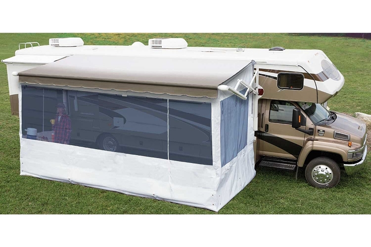 Screened Rooms For Rvs : Carefree complete flat pitch add a room awning screen