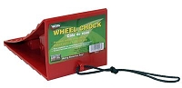 Wheel Chock, Red w/Cord by Valterra