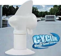 Black Camper Plumbing Sewer Vent-Cyclone Vent