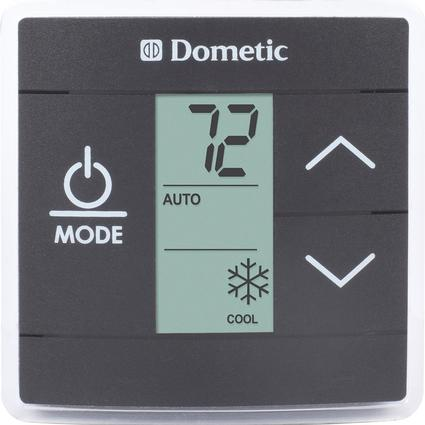 upgraded dometic single zone rv ac thermostat black. Black Bedroom Furniture Sets. Home Design Ideas