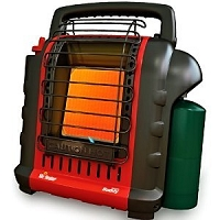 PORTABLE BUDDY GAS HEATER BY MR HEATER - SAFE INDOORS
