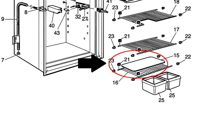 dometic rv refrigerator bottom 19 3 4 x 9 white wire shelf. Black Bedroom Furniture Sets. Home Design Ideas