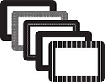 rv photo frames,4X6 Frame, Assorted 5Pk, Black, peel and stick